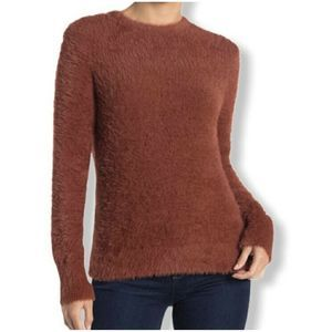 Free Press NWT Fuzzy Sweater Pullover Top Faux Fur